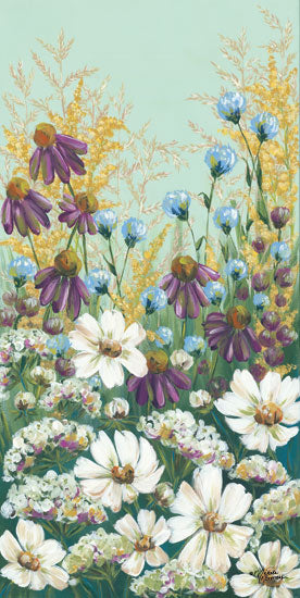 Michele Norman MN101 - Floral Field Day Wildflowers, Flowers, Field, Triptych from Penny Lane