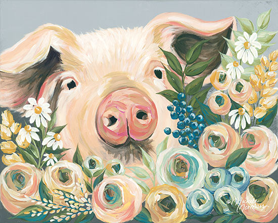 Michele Norman MN103 - Pig in the Flower Garden Pig, Flowers, Flower Garden from Penny Lane
