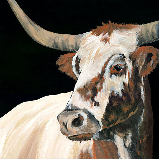 Michele Norman MN111 - Longhorn Love - 12x12 Longhorn, Cow, Farm, Portrait, Selfie from Penny Lane