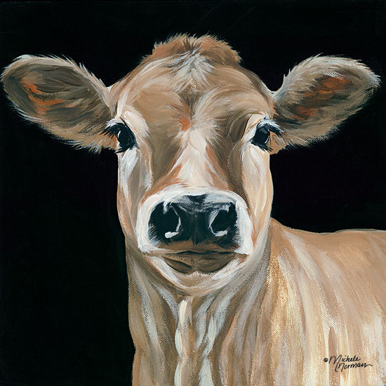 Michele Norman MN112 - Jersey Girl - 12x12 Cow, Jersey Cow, Farm, Portrait, Selfie from Penny Lane