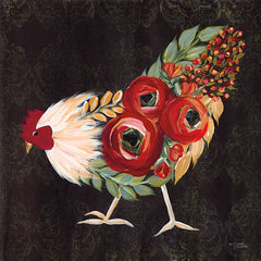 MN118 - Botanical Rooster - 12x12