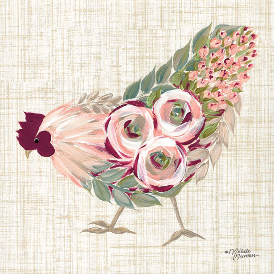 Michele Norman MN120 - Botanical Rooster II - 12x12 Rooster, Flowers, Botanical, Farm, Whimsical from Penny Lane