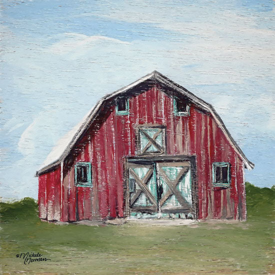 Michele Norman MN150 - Red Barn - 12x12 Barn, Red Barn, Farm from Penny Lane