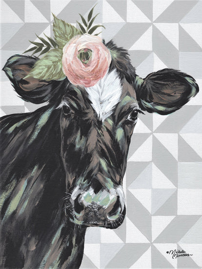 Michele Norman MN212 - MN212 - Clementine    - 12x16 Cow, Flower, Triangle Quilt Pattern, Portrait, Selfie from Penny Lane