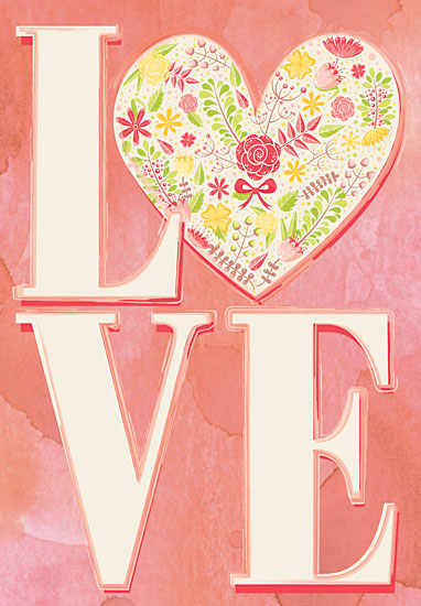 Mollie B. MOL1785 - Love Love, Hearts, Flowers, Pink, Valentine's Day from Penny Lane