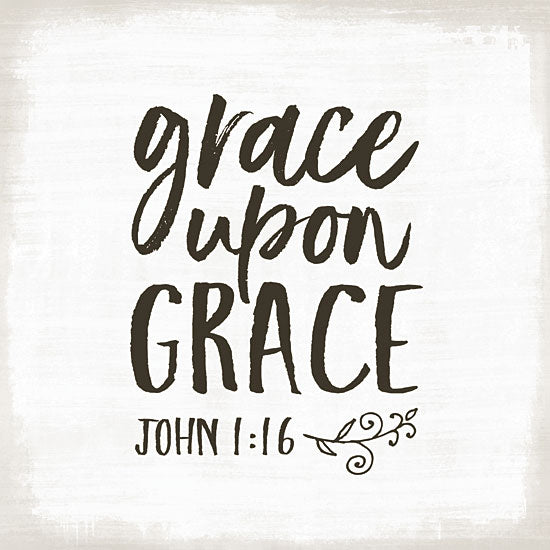 Mollie B. MOL1896 - Grace Upon Grace Grace, God, Bible Verse, John, Calligraphy from Penny Lane