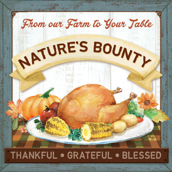 Mollie B. MOL1902 - Nature's Bounty Farm to Table, Turkey, Meal, Thankful, Grateful, Blessed, Harvest from Penny Lane