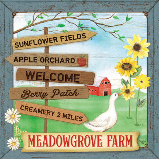 Mollie B. MOL1905 - Meadowgrove Farm Farm, Goose, Welcome, Signs, Farm, Sunflowers, Daisies, Directions from Penny Lane