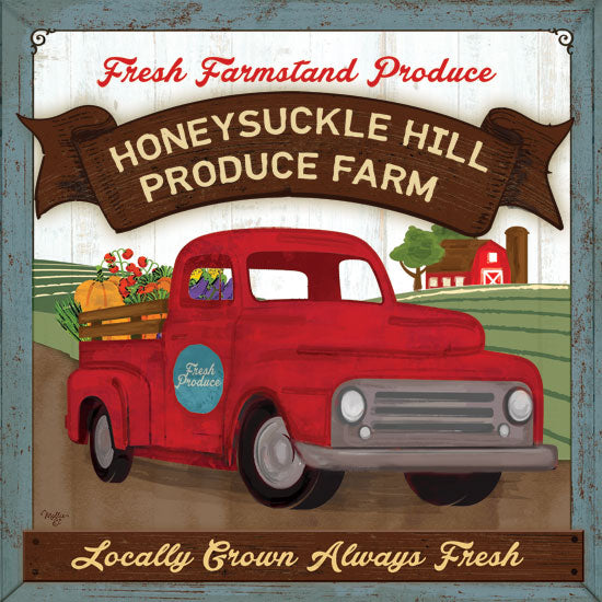 Mollie B. MOL1907 - Honeysuckle Hill Produce Farm Produce, Farm, Truck, Farm to Table from Penny Lane