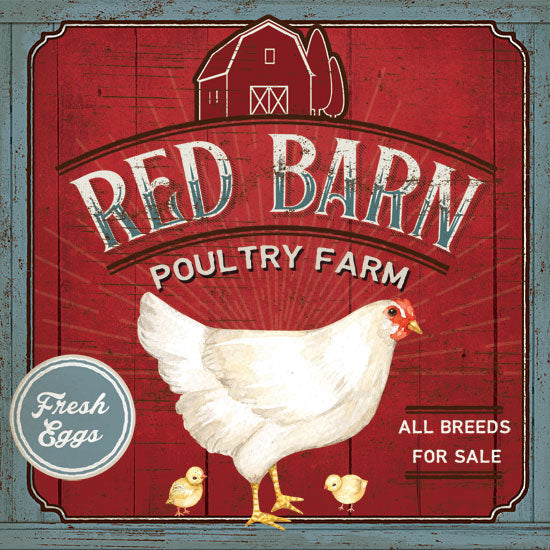 Mollie B. MOL1908 - Red Barn Poultry Farm Barn, Farm, Chickens, Eggs, Poultry, For Sale, Signs from Penny Lane
