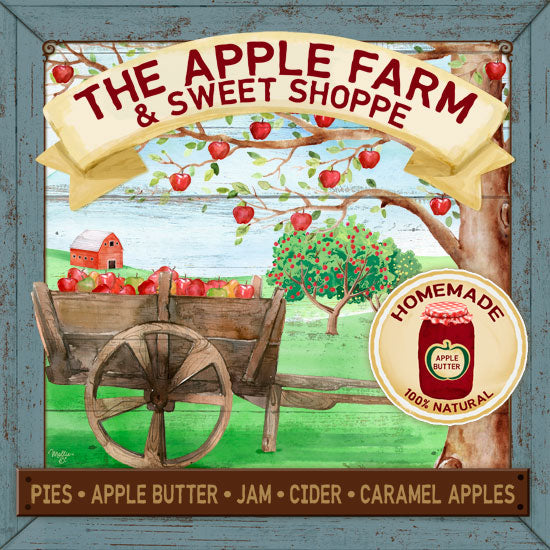 Mollie B. MOL1912 - The Apple Farm & Sweet Shoppe Apples, Apple Orchard, Farm, Wagon, Apple Butter, Farm, Trees from Penny Lane