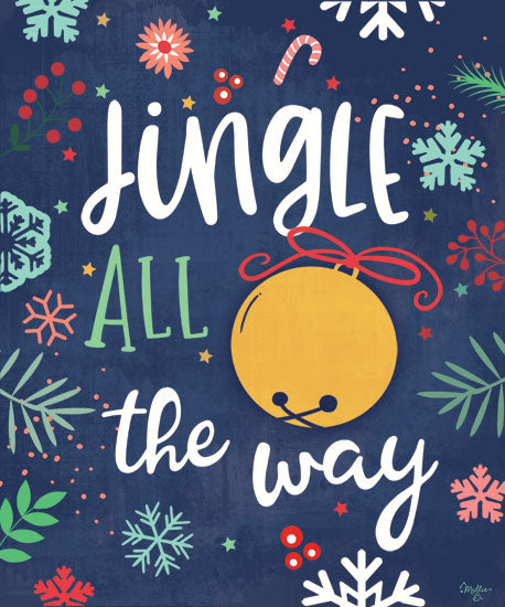 Mollie B. MOL2023 - MOL2023 - Jingle All the Way - 12x16 Signs, Christmas, Jingle Bells, Candy Cane from Penny Lane
