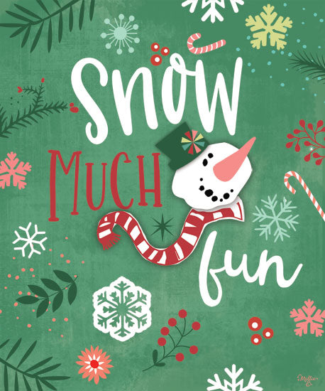 Mollie B. MOL2024 - MOL2024 - Snow Much Fun - 12x16 Signs, Snowman, Humor, Candy Cane, Christmas from Penny Lane