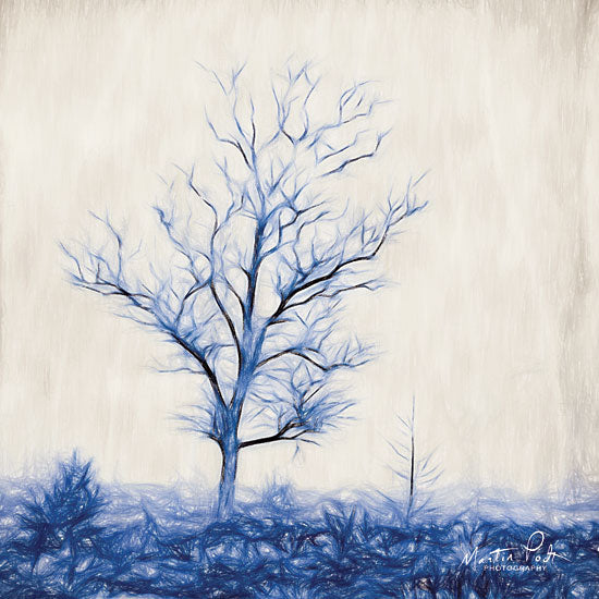 Martin Podt MPP426 - Tree in Blue Tree, Blue, Landscape, Field from Penny Lane