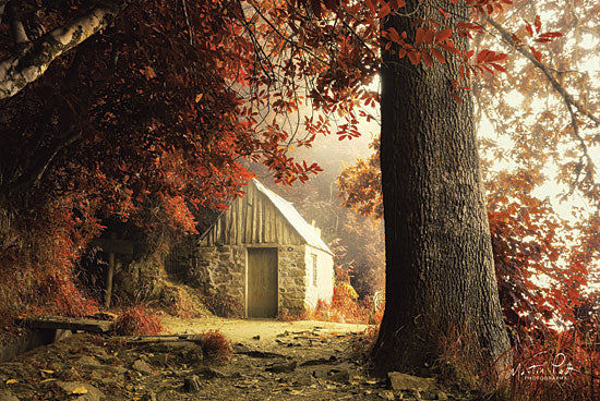 Martin Podt MPP463 - The House Stone House, Autumn, Red Leaves, Trees, Path from Penny Lane