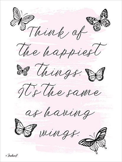 Martina Pavlova PAV135 - Having Wings - 12x16 Butterflies, Happy, Motivational, Signs from Penny Lane