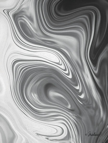 Martina Pavlova PAV158 - Gray Marble - 12x16 Abstract, Marble, Black & White from Penny Lane