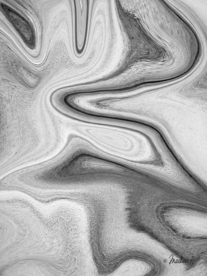 Martina Pavlova PAV159 - Gray Waves - 12x16 Abstract, Waves, Black & White from Penny Lane