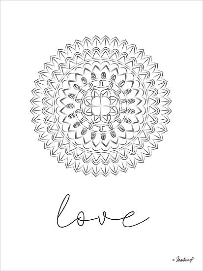 Martina Pavlova PAV165 - Mandala Love - 12x16 Love, Mandala, Design, Signs from Penny Lane