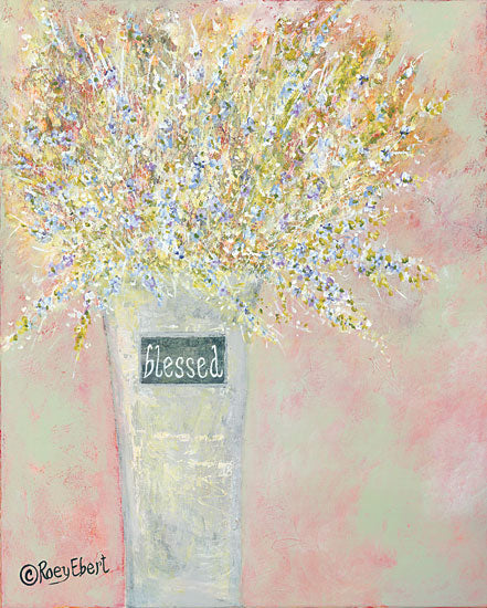 Roey Ebert REAR235 - Blessed Abstract, Flowers, Vase, Blessed from Penny Lane