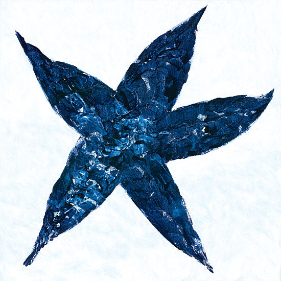 Roey Ebert REAR264 - Midnight Starfish - 12x12 Starfish, Coastal, Blue and White from Penny Lane