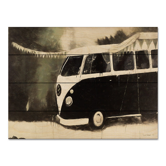 Suzi Redman RED105PAL - Gone Camping Van, Camper, VW, Campgrounds, Black & White from Penny Lane