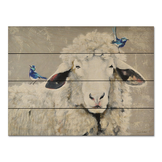Suzi Redman RED106PAL - Days Like These Sheep, Birds, Blue Birds, Portrait, Selfie from Penny Lane