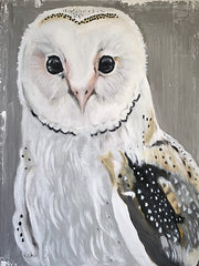 RED123 - Barn Owl - 12x16