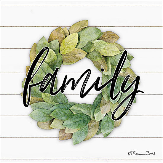 Susan Ball SB600 - Family Wreath Family, Wreath, Shiplap, Signs from Penny Lane