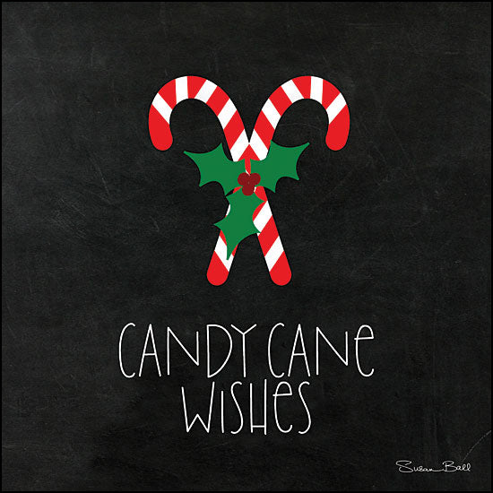 Susan Ball SB621 - Candy Cane Wishes Chalkboard Art, Candy Canes, Candy, Holidays from Penny Lane