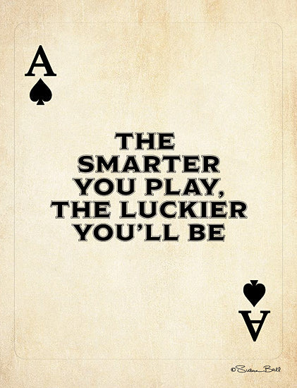 Susan Ball SB697 - SB697 - Ace of Spades - 12x16 Playing Cards, Motivational, Smarter You Play, Signs from Penny Lane