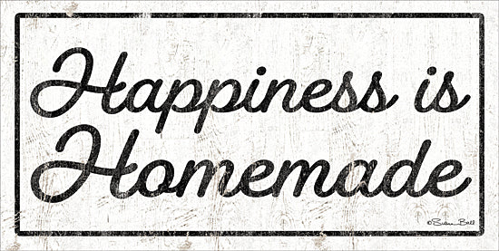 Susan Ball SB713 - SB713 - Happiness is Homemade - 18x9 Happiness is Homemade, Kitchen, Black & White, Signs from Penny Lane