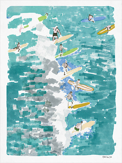 Stellar Design Studio SDS223 - SDS223 - Surf's Up 1 - 12x16 Surfing, Tropical, Surfboards, Ocean from Penny Lane