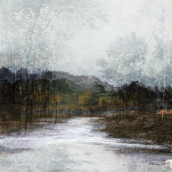Stellar Design Studio SDS243 - SDS243 - Winter Landscape 7 - 12x12 Landscape, Winter, Abstract, Creek, Trees from Penny Lane