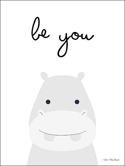 Seven Trees Design ST370 - Be You Be You, Hippo, Hippopotamus, Babies, Kid's Art from Penny Lane