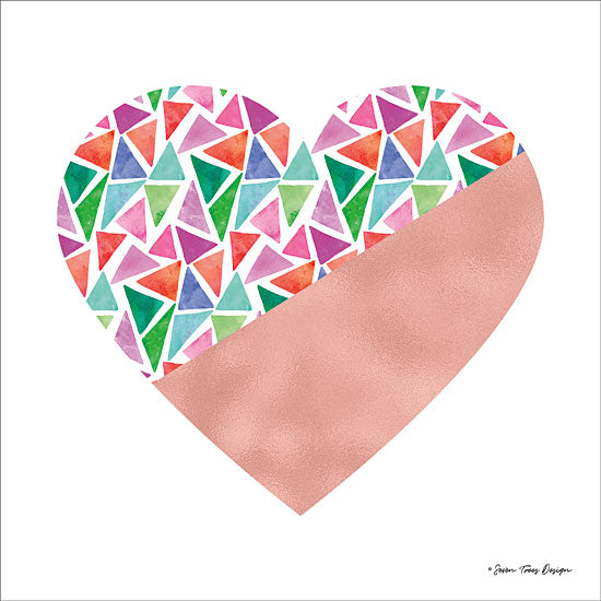 Seven Trees Design ST387 - Colorful Heart Heart, Mosaic, Tiles from Penny Lane
