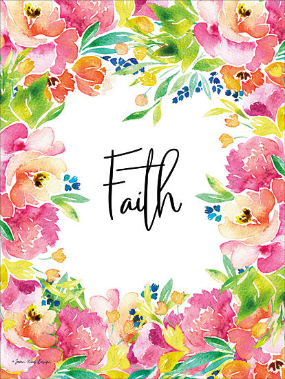 Seven Trees Design ST401 - Faith Watercolor Flowers Flowers, Faith, Signs from Penny Lane