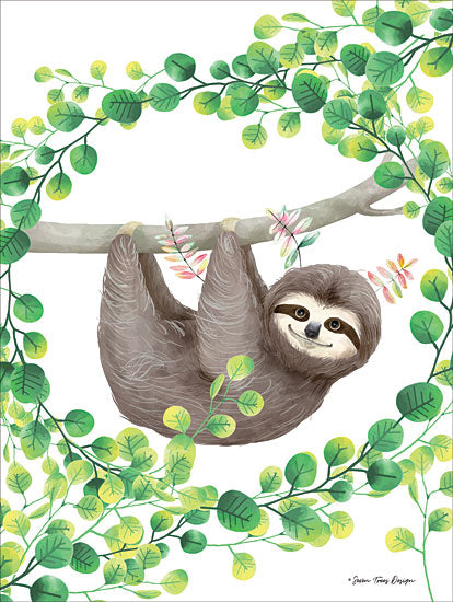 Seven Trees Design ST421 - Hanging Around Sloth II Sloth, Greenery, Hanging Around from Penny Lane