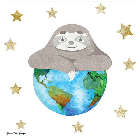 Seven Trees Design ST422 - Planet Sloth Sloth, Stars, Earth, Globe, Whimsical from Penny Lane