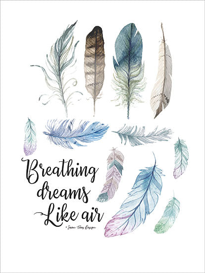 Seven Trees Design ST439 - Breathing Dreams Like Air - 12x16 Feathers, Collection, Indian, Southwestern from Penny Lane