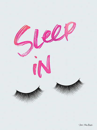 Seven Trees Design ST528 - ST528 - Sleep In - 12x16 Signs, Eyelashes, Sleep In, Typography from Penny Lane