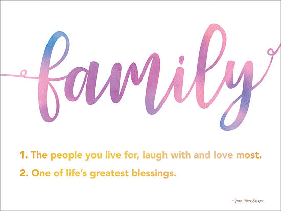 Seven Trees Design ST529 - ST529 - Family - 16x12 Signs, Family, Definition, Typography from Penny Lane