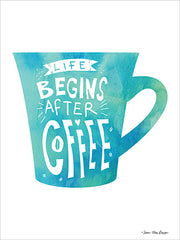 ST570 - Life Begins After Coffee - 12x16