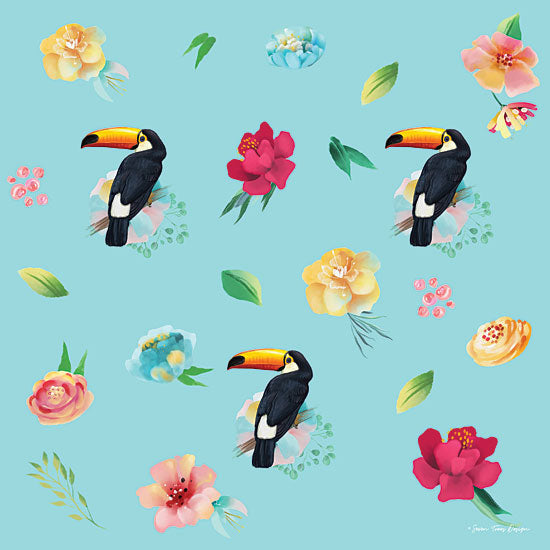 Seven Trees Design ST637 - ST637 - Toucans in Paradise - 12x12 Patterns, Toucan, Tropical, Floral, Botanical from Penny Lane
