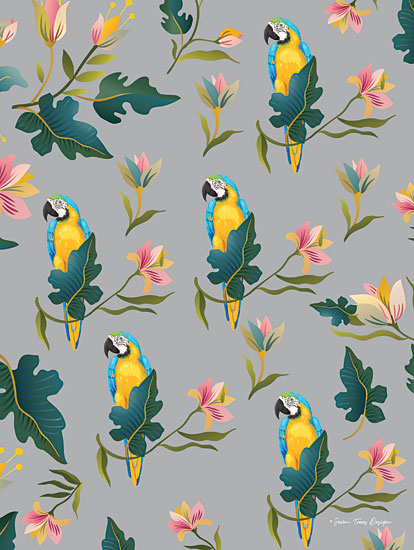 Seven Trees Design ST638 - ST638 - The Macaw Pattern - 12x16 Patterns, Macaw, Parrot, Floral, Botanical from Penny Lane