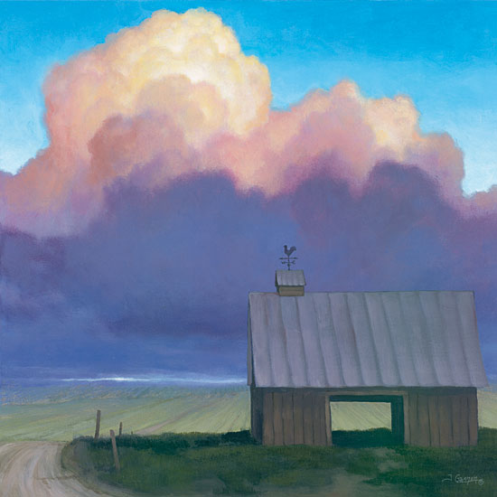 Tim Gagnon TGAR130 - Through Rows - Barn, Road, Clouds, Solitude from Penny Lane Publishing