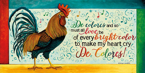 Tonya Crawford TLC400 - De Colores Spanish, Rooster, Rainbow Colors, De Colores, Signs from Penny Lane