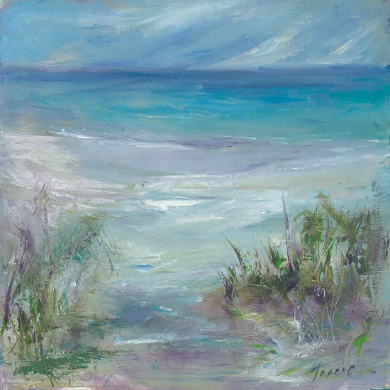 Tracy Owen-Cullimore TOC125 - TOC125 - Blue Horizons - 12x12 Abstract, Coastal, Beach, Sand, Ocean, Landscape from Penny Lane