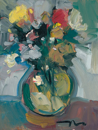 Jose Trujillo TRU103 - Glass Vase - 12x16 Flowers, Vase, Vase of Flowers, Abstract, Botanical, Impressionism from Penny Lane