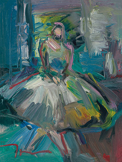Jose Trujillo TRU105 - Ballerina - 12x16 Ballerina, Girl, Figurative, Dancing, Children, Kid's Art, Dance, Impressionism from Penny Lane